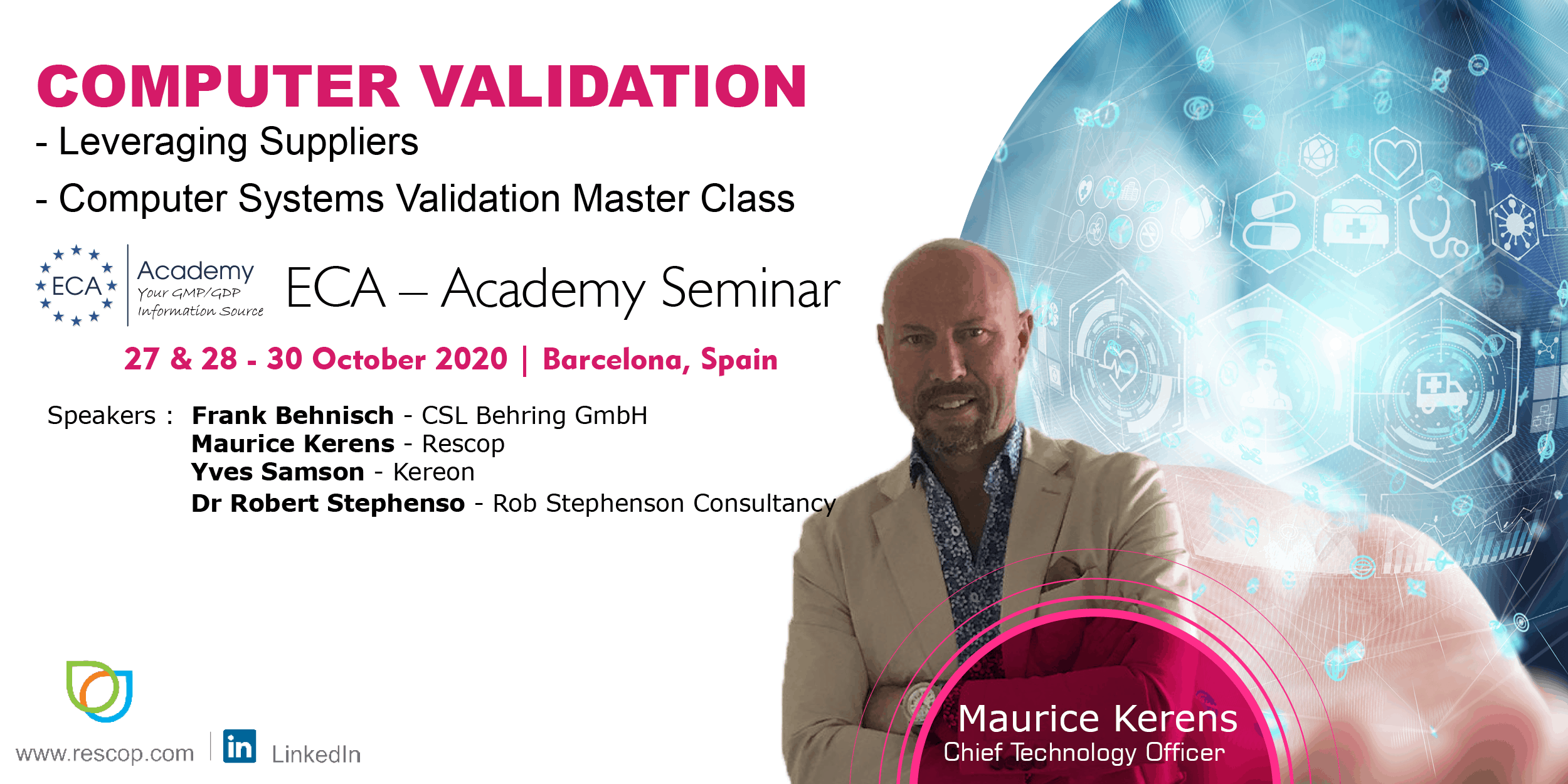 ECA -Academy Computer Validation Seminar